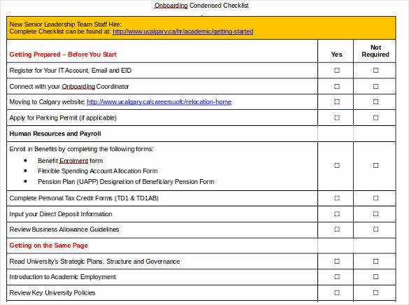 Onboarding Checklist Template Excel New Boarding Checklist Template – 15 Free Word Excel Pdf