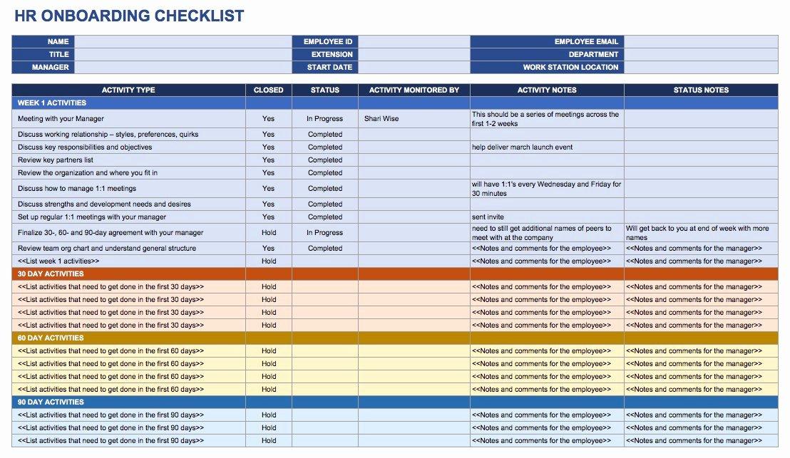 Onboarding Checklist Template Word Elegant Free Boarding Checklists and Templates