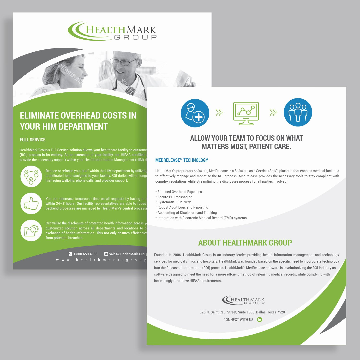 One Page Brochure Template Beautiful Professional Serious Flyer Design Job Brief for Healthmark