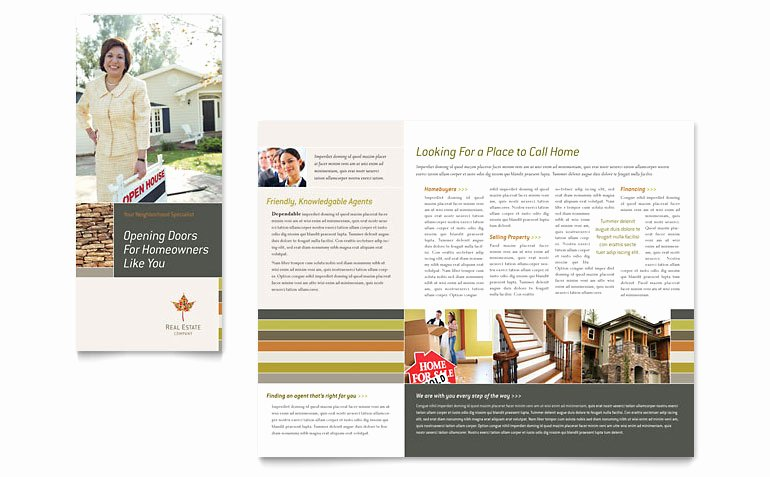 One Page Brochure Template Fresh One Page Brochure Template Word Free Sample Brochure