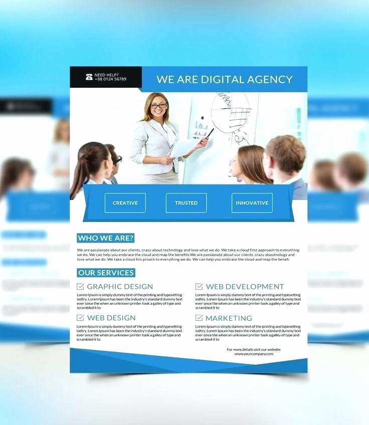 One Page Brochure Template Fresh Simple Brochure Template for Word Free Flyer Es E Page