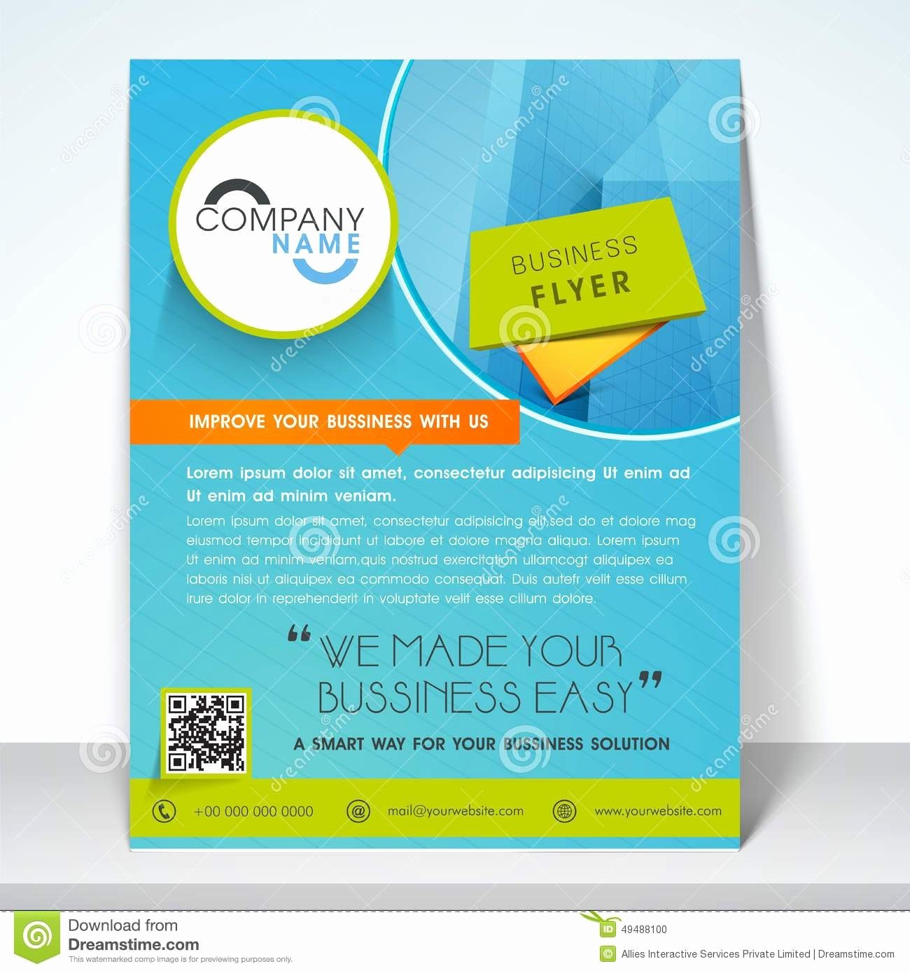 One Page Brochure Template Fresh Single Page Brochure Template