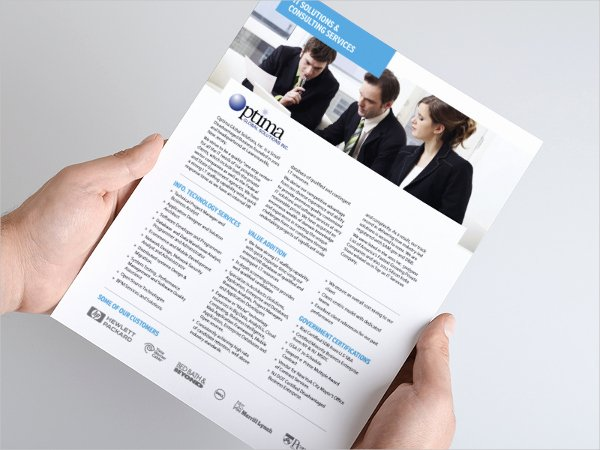 One Page Brochure Template New 17 E Page Brochure Templates Free Download