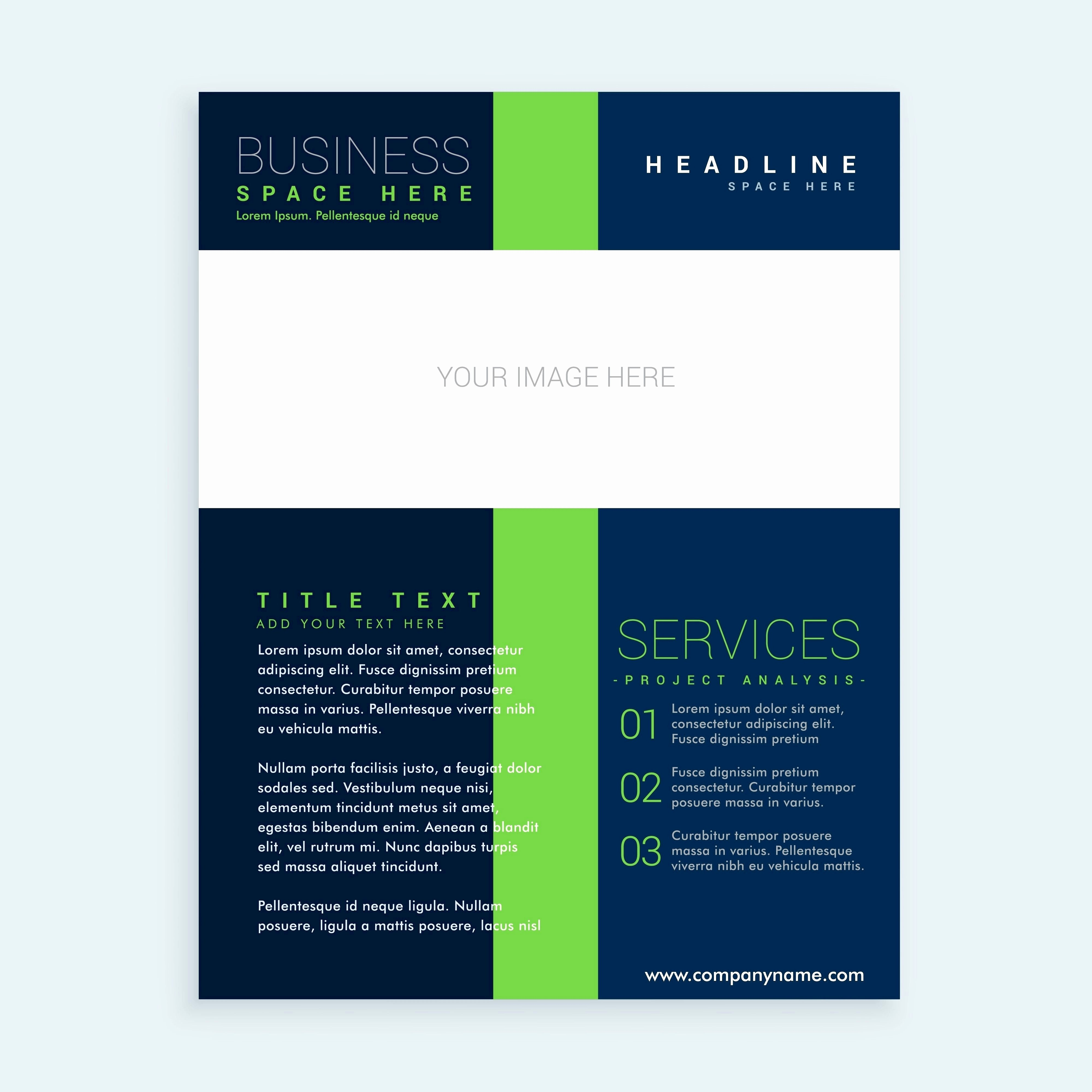 One Page Brochure Template Unique 50 Elegant E Page Brochure Examples
