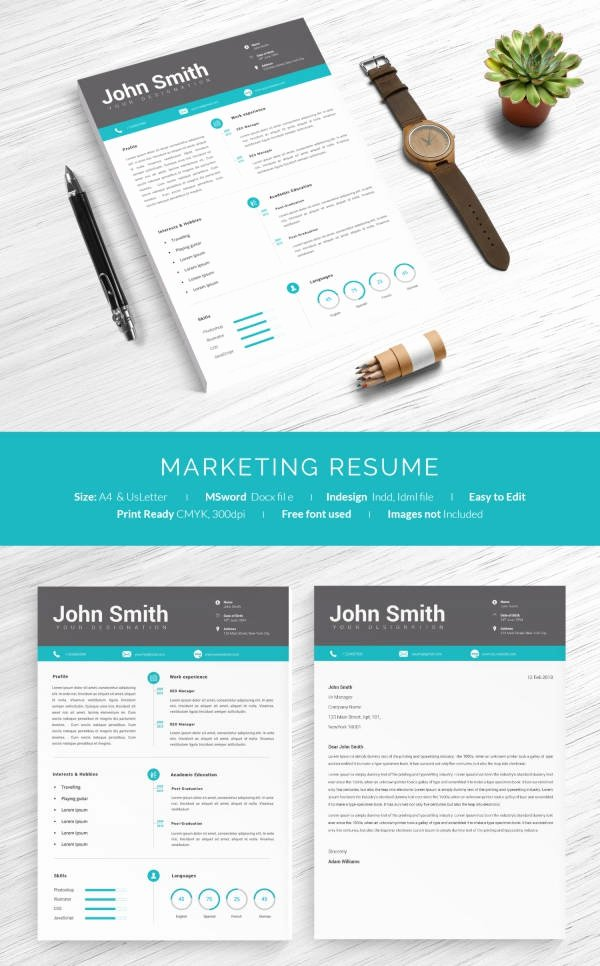 One Page Marketing Plan Template Beautiful 16 E Page Resume Templates
