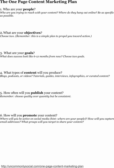 One Page Marketing Plan Template Best Of Download E Page Marketing Template for Free formtemplate