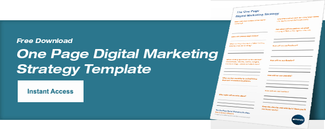 One Page Marketing Plan Template Elegant Digital Marketing Strategy Understand and Calculate