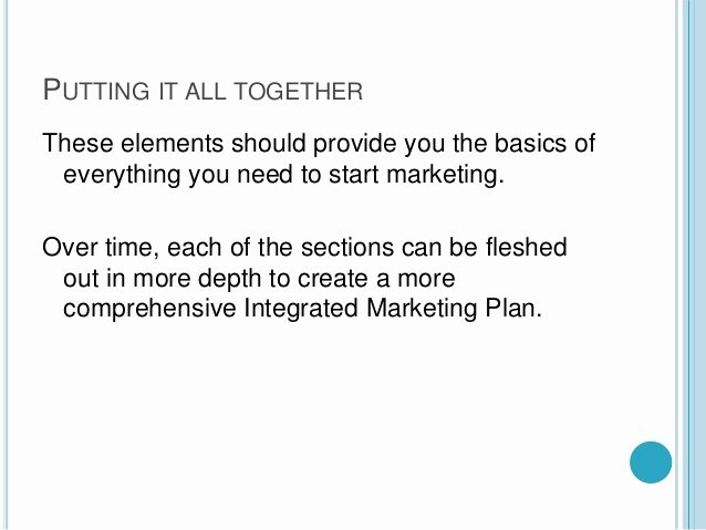 One Page Marketing Plan Template Fresh A Quick One Page Marketing Plan Template