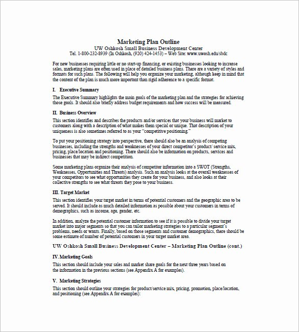 One Page Marketing Plan Template Luxury E Page Marketing Plan Template – 16 Free Sample