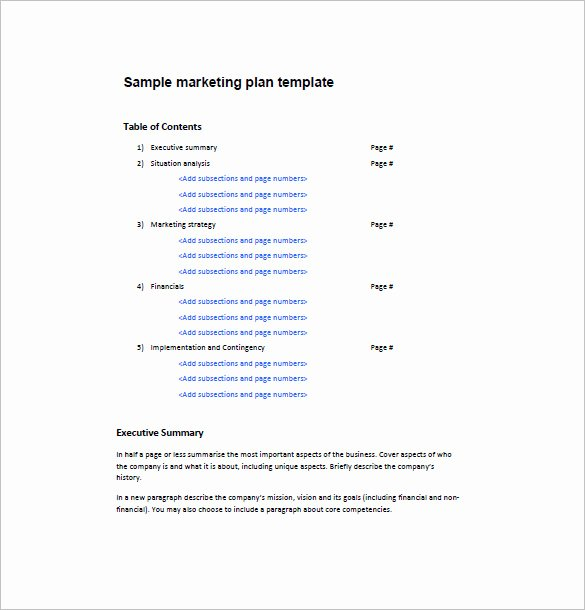 One Page Marketing Plan Template New E Page Marketing Plan Template – 16 Free Sample