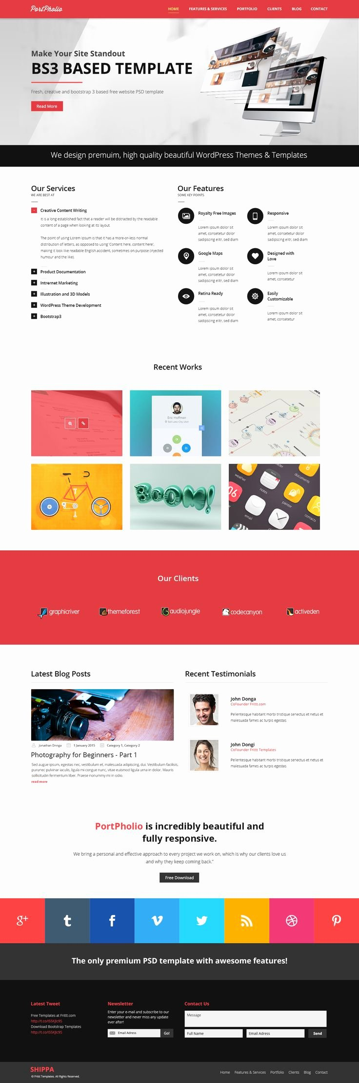 One Page Newsletter Template Awesome 25 Best Images About Free Website Templates On Pinterest