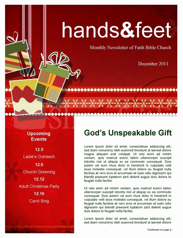 One Page Newsletter Template Awesome Christmas Gifts Newsletter Template