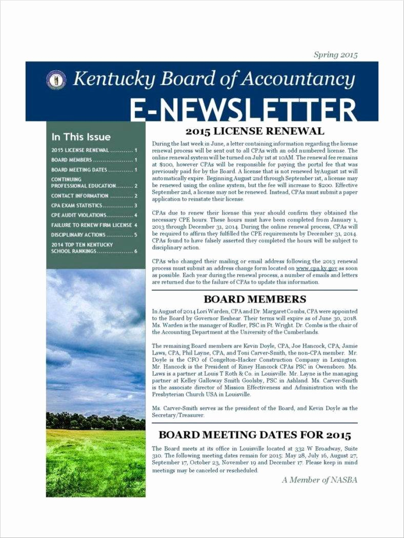 One Page Newsletter Template Awesome E Page Newsletter Templates Free Printable Newsletter