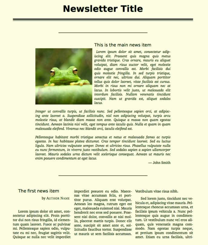 One Page Newsletter Template Awesome How to Create A Pany Newsletter Template