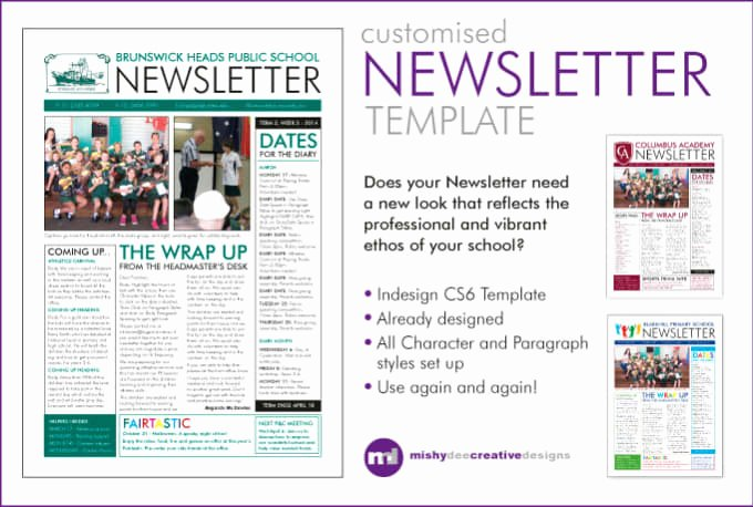 One Page Newsletter Template Best Of Customise A Newsletter Template In Indesign by Mishydee