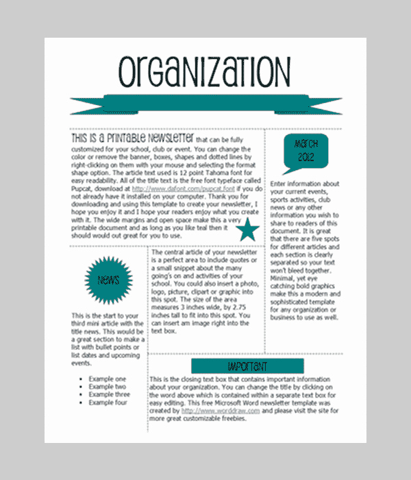 One Page Newsletter Template Best Of Word Newsletter Template – 31 Free Printable Microsoft