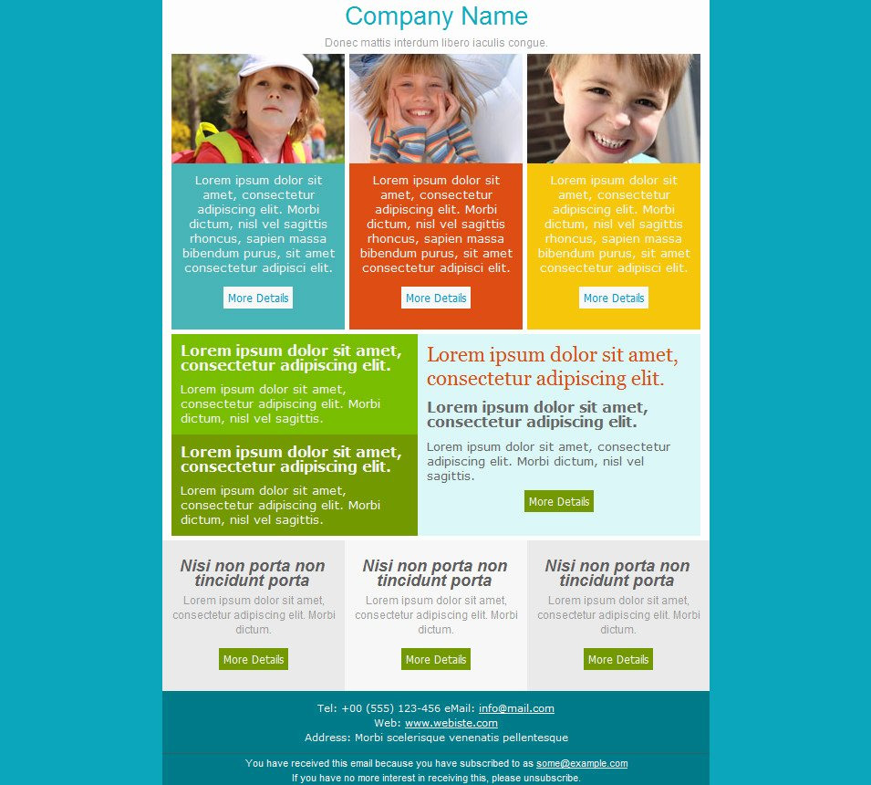 One Page Newsletter Template Elegant 33 Best Email Template Designs for Download Purchase