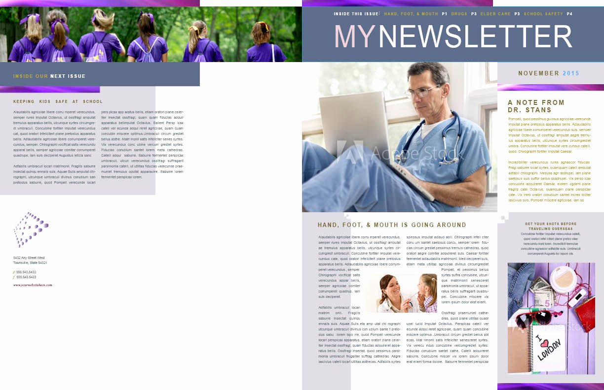 One Page Newsletter Template Fresh Sample Newsletters Penvium