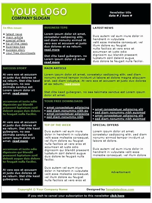One Page Newsletter Template Lovely 1 Page Newsletter Templates Create A Trendy One Page Print