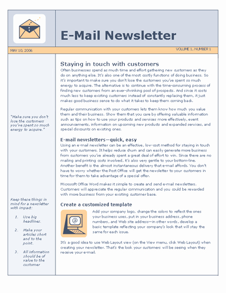 One Page Newsletter Template Luxury 27 Of E Page Newsletter Template Word
