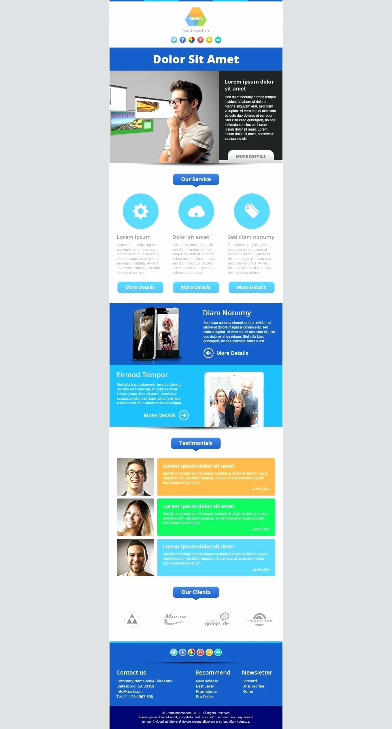 One Page Newsletter Template Luxury E Page Newsletter Template Image Collections Template