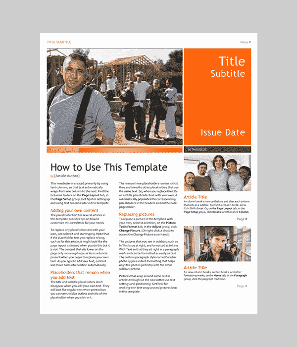 One Page Newsletter Template Luxury Word Newsletter Template – 31 Free Printable Microsoft
