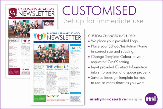 One Page Newsletter Template Unique Customise A Newsletter Template In Indesign