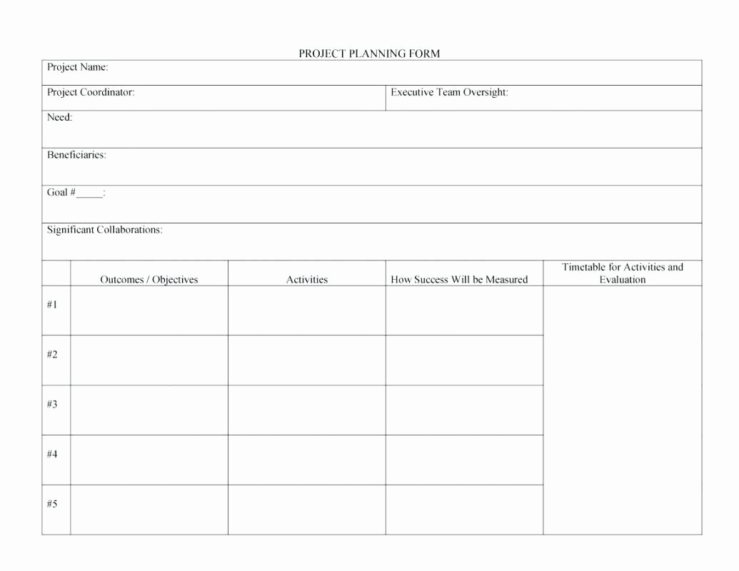 One Page Project Plan Template Fresh Template E Page Business Plan Template Word