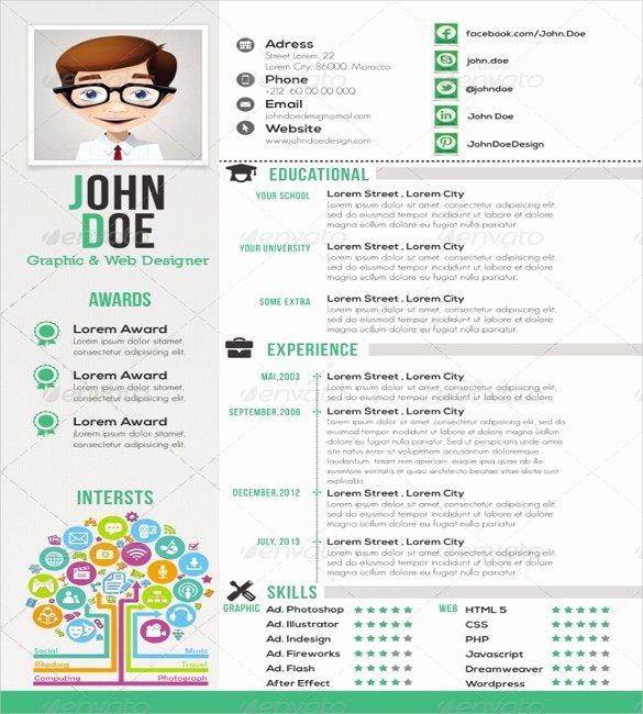 One Page Resume Template Free Awesome 41 E Page Resume Templates Free Samples Examples & formats Download