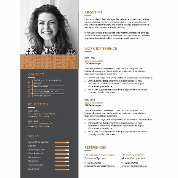 One Page Resume Template Free Best Of E Page Resume Template 12 Free Word Excel Pdf