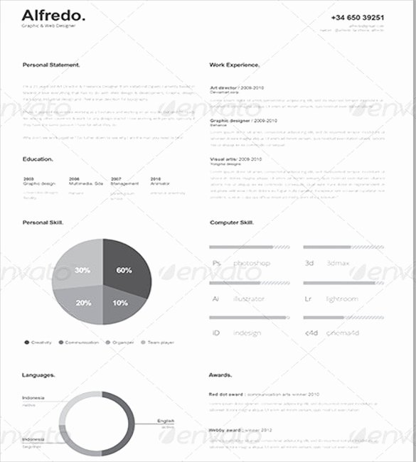 One Page Resume Template Free Fresh 41 E Page Resume Templates Free Samples Examples & formats Download