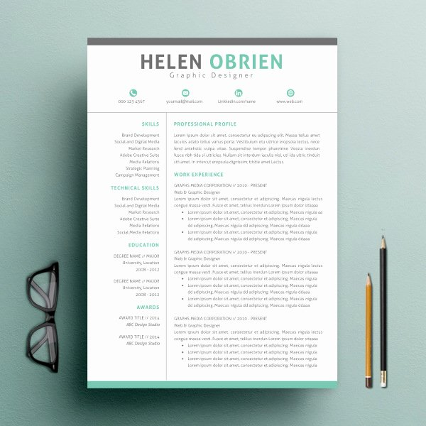 One Page Resume Template Free Lovely 9 E Page Resume Templates