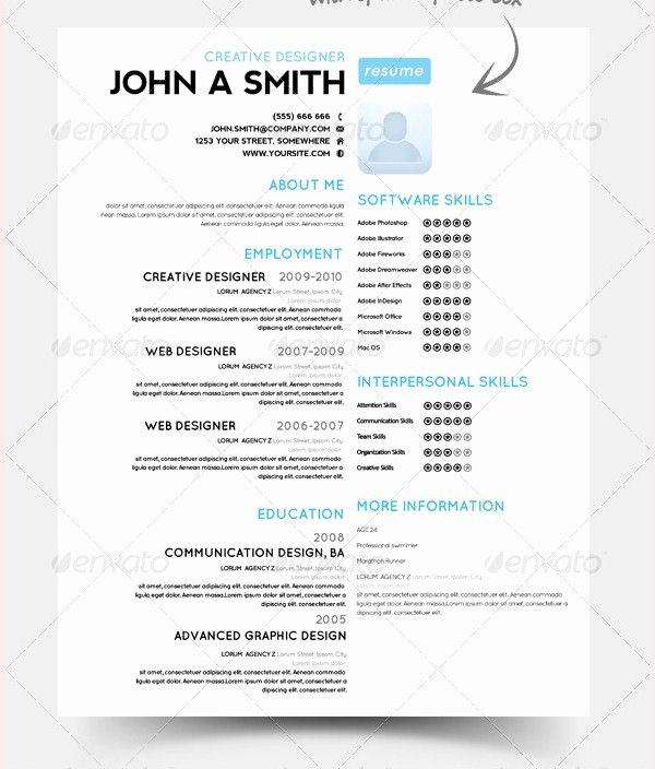 One Page Resume Template Free Lovely Psd Resume Template – 51 Free Samples Examples format Download