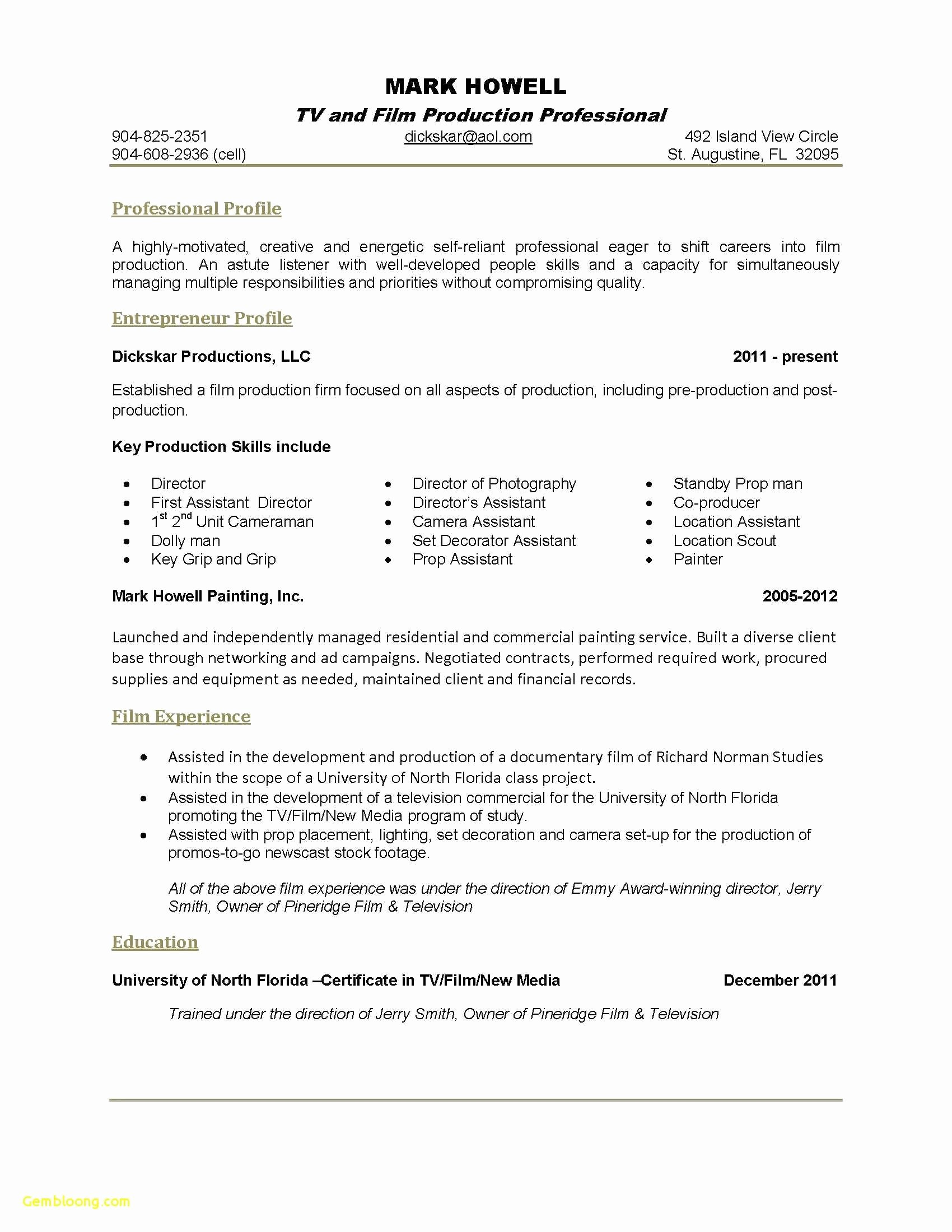 One Page Resume Template Word Awesome E Page Resume Sample Example E Examples and Pager