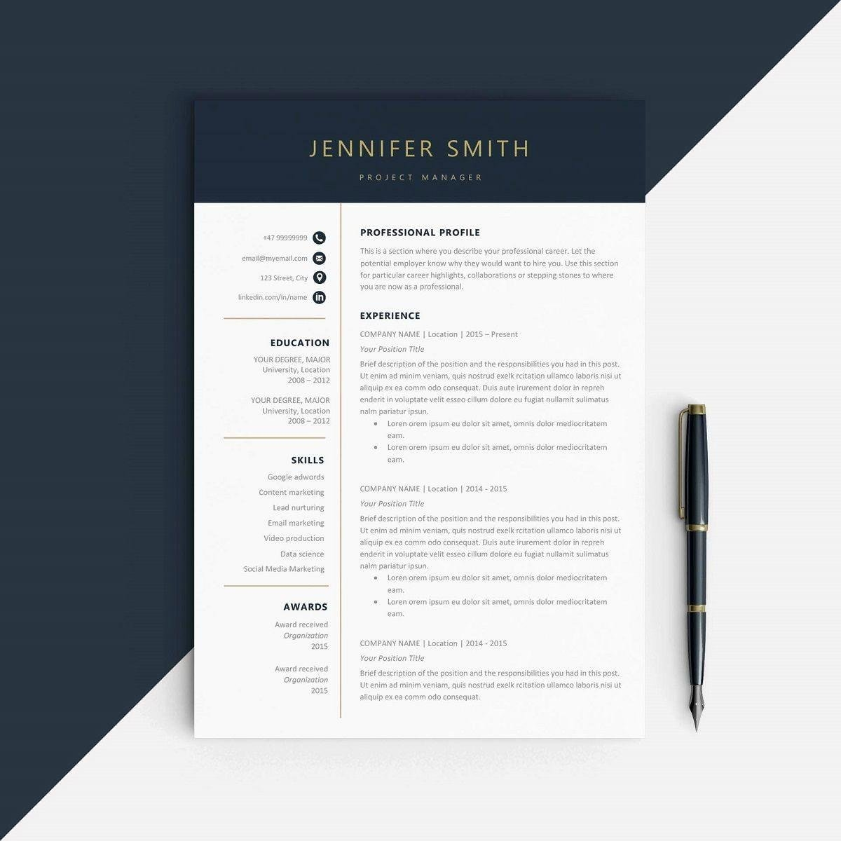 One Page Resume Template Word Elegant Modern Resume Templates & 18 Examples [a Plete Guide]