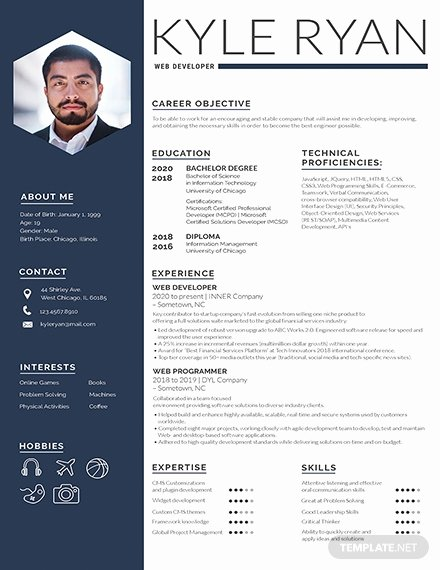 One Page Resume Template Word Fresh 187 Free Resume Templates
