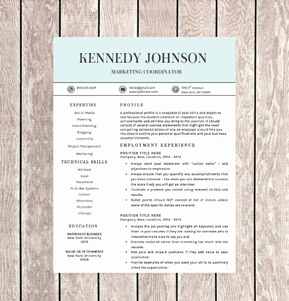 One Page Resume Template Word Fresh 41 E Page Resume Templates Free Samples Examples