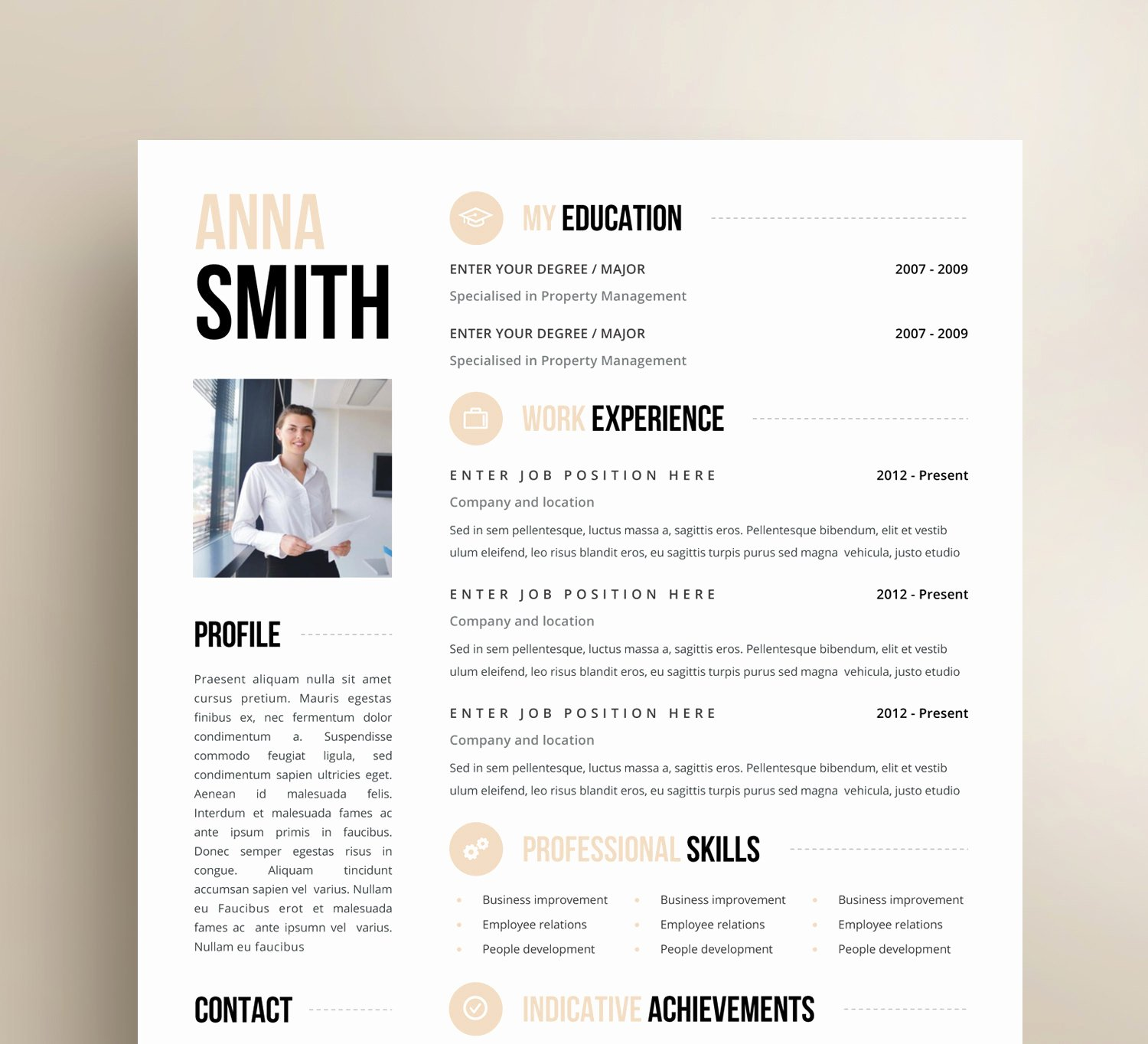 One Page Resume Template Word Fresh Inspiration Minimalist Resume Template Word Free with E