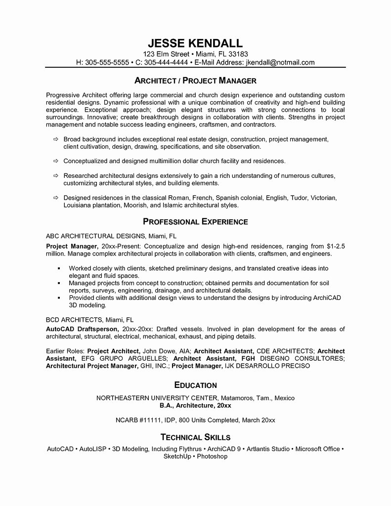 One Page Resume Template Word Lovely E Page Resume Sample Example E Examples and Pager