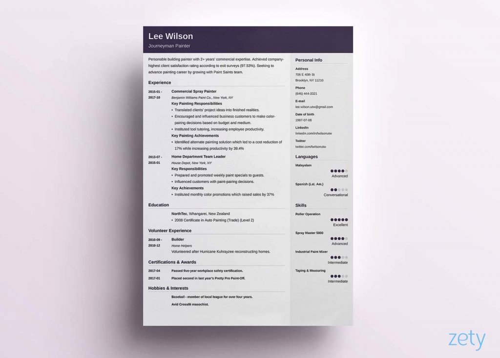 One Page Resume Template Word Luxury Resume and Template E Page Resume Template Free E