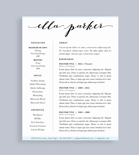 One Page Resume Template Word Unique Best 25 Resume Template Free Ideas On Pinterest