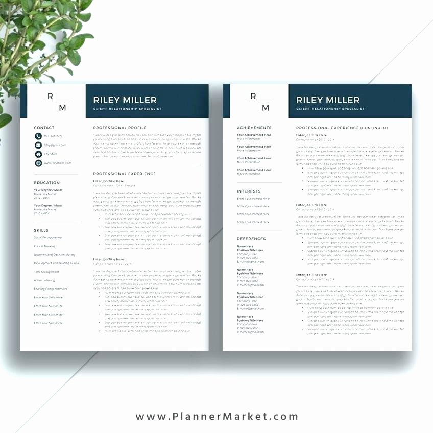 free pages resume templates mac one page
