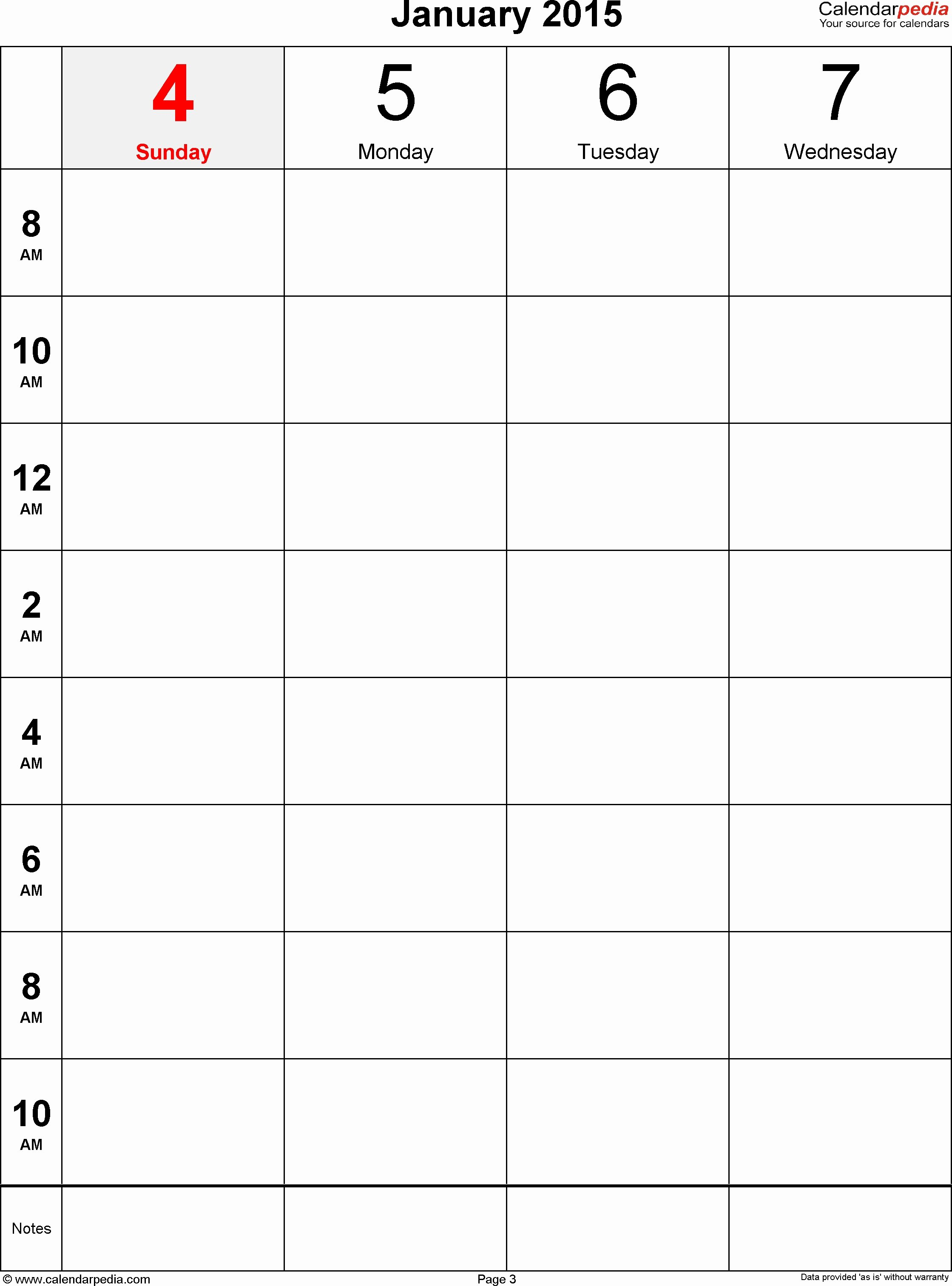 One Week Schedule Template Awesome E Week Calendar Template with Hours – Calendar Printable