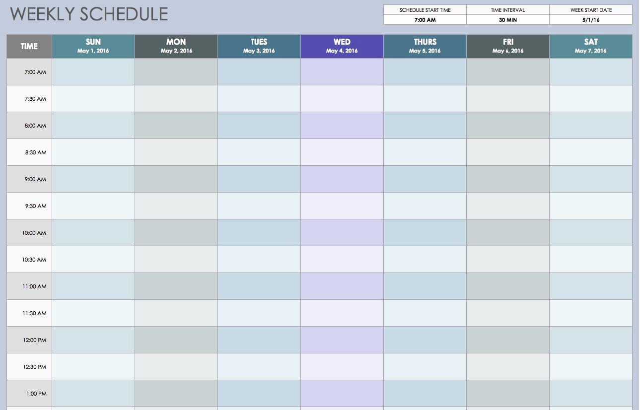 One Week Schedule Template Beautiful Weekly Schedule Templates Find Word Templates