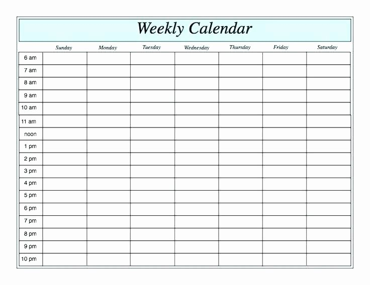 One Week Schedule Template Elegant Blank Calendar Templates with Regard to 1 Week Template