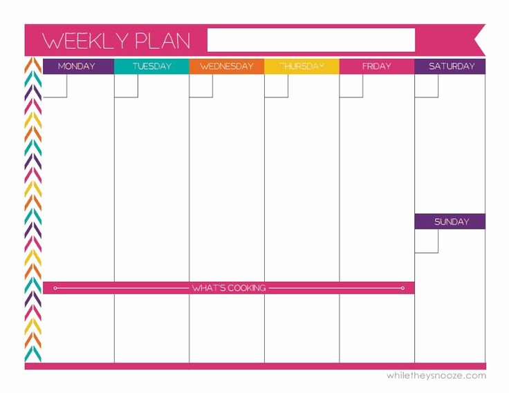 One Week Schedule Template Fresh Best 25 Weekly Calendar Template Ideas On Pinterest