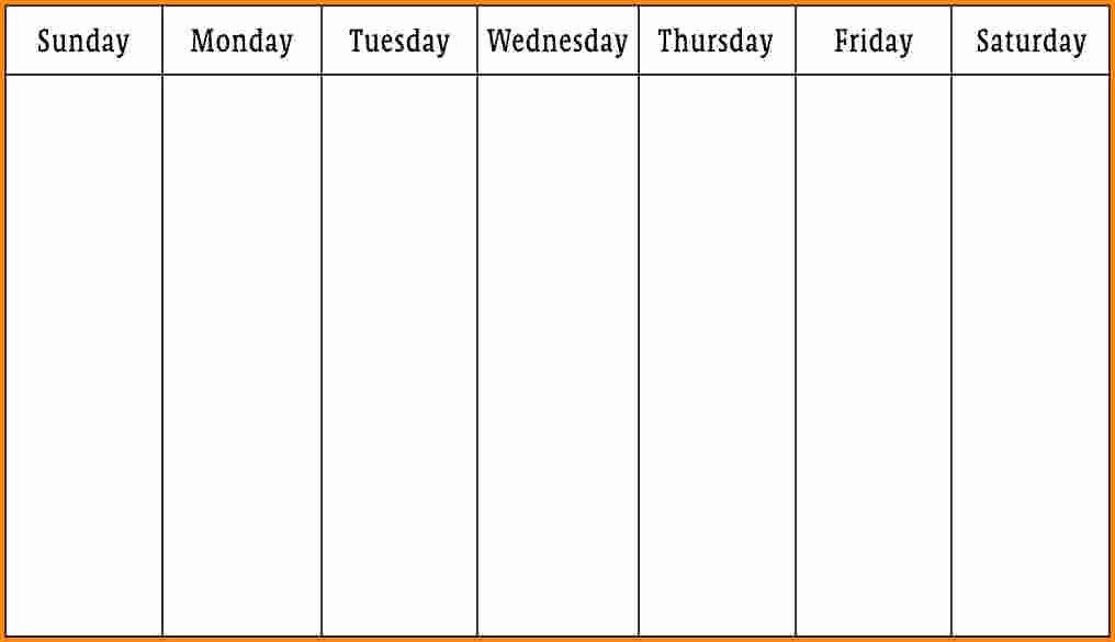One Week Schedule Template Inspirational 6 Week Schedule Template