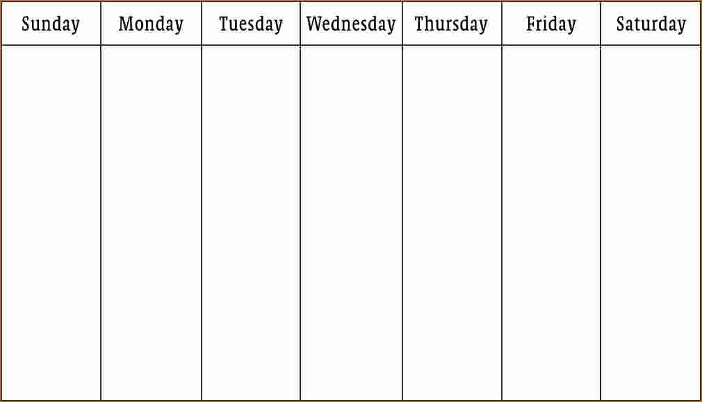 One Week Schedule Template Lovely 3 Work Week Calendar Template