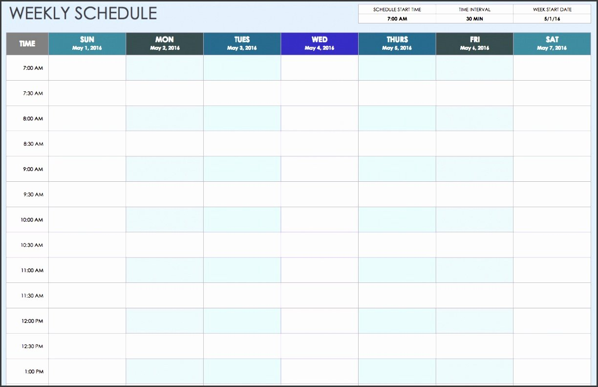 One Week Schedule Template Lovely 8 Student E Week Planner Template Sampletemplatess