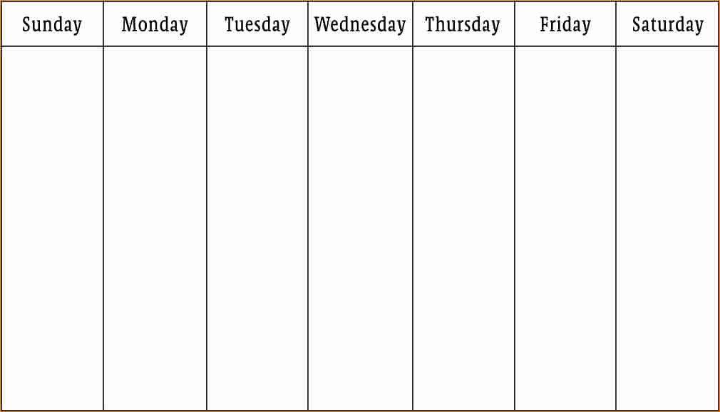 One Week Schedule Template Luxury 1 Week Calendar Template Business Proposal Templated